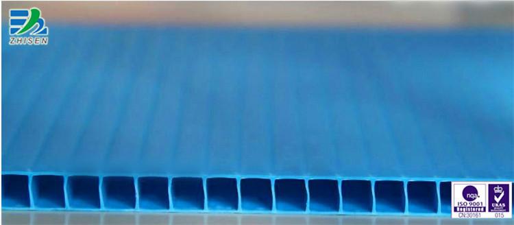 蓝色pp中空板