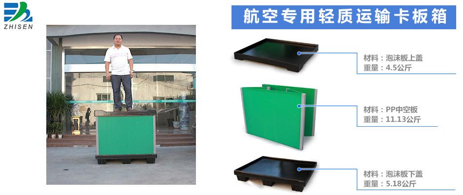 反复使用中空板航空物流箱