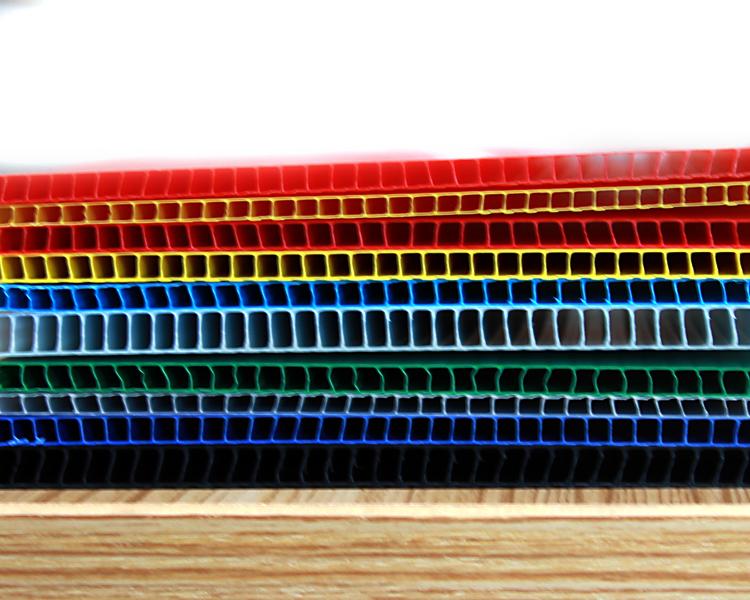 5MM厚中空隔板,塑料中空板 3MM彩色中空板,PP料中空板